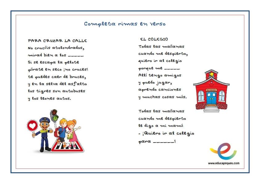 rimas, adivinanzas, poesía, versos, aprendizaje, recursos educativos, recursos para el aula