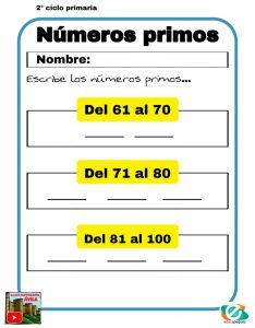 matematicas números primos