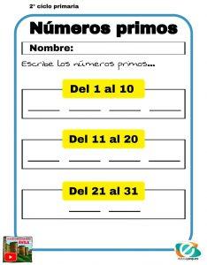numeros primos matematicas