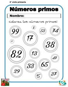 números primos primaria