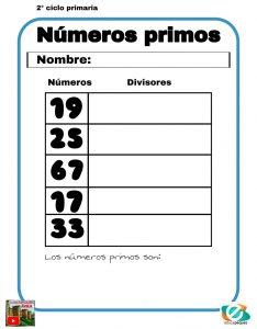 numeros primos primaria
