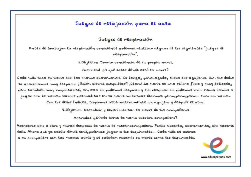 Actividades y ejercicios de relajaci n para ni os for Actividades para el salon de clases de primaria