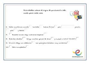 ejercicios de signos de puntuación para niños de primaria para imprimir