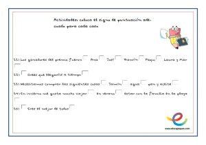 ejercicios signos de puntuación