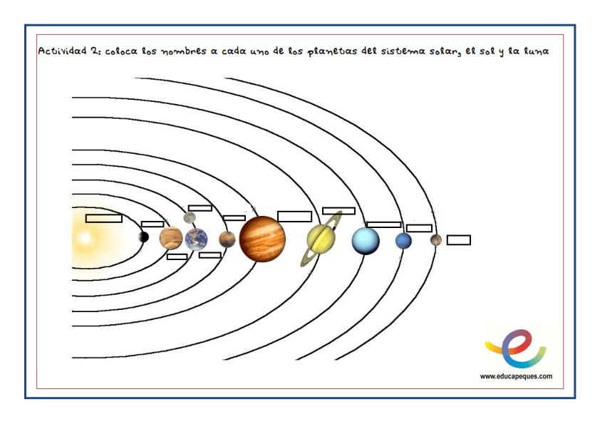 el sistema solar fichas 002