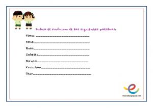 sinónimos, actividades lenguaje, lengua, taller de lengua, ejercicios de lengua