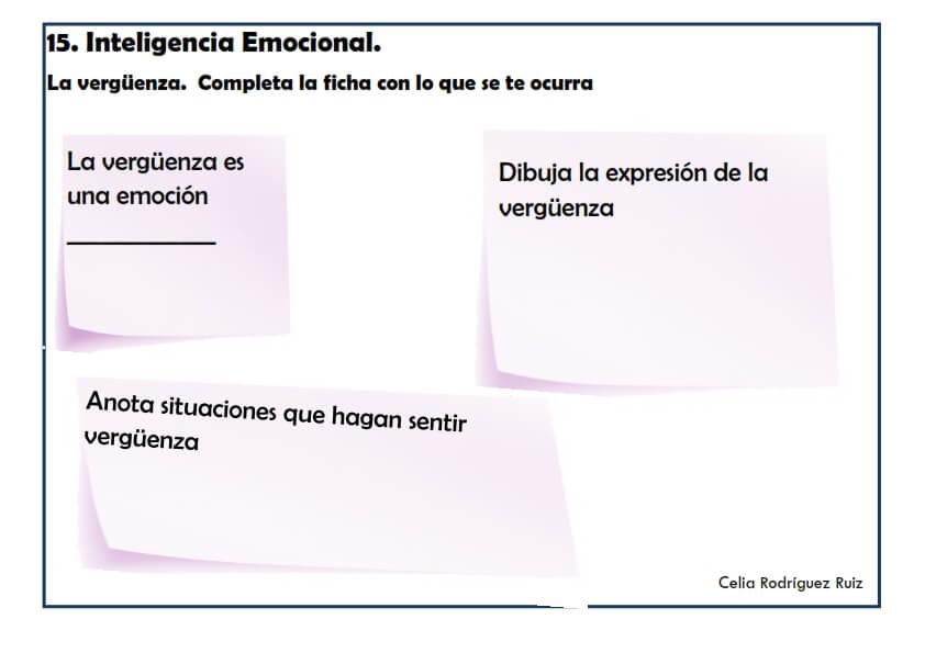 Ficha desarrollo emocional