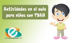Actividades en el aula para niños con TDA