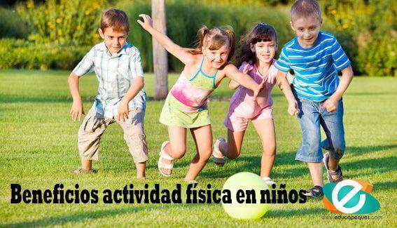 beneficios actividad física en niños