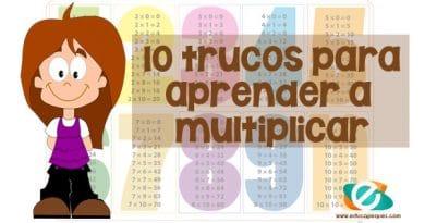 10 Trucos para enseñar a los niños a multiplicar