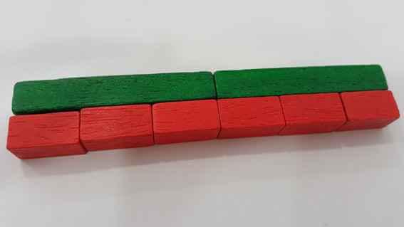 Comprender las multiplicaciones:Regleta 4x5