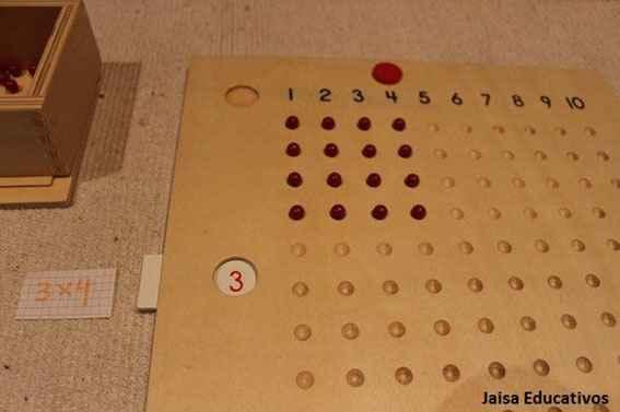Comprender las multiplicaciones: Tabla Multiplicación Montessori