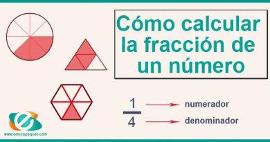 Cómo calcular la fracción de un número