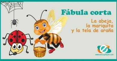 Fábulas famosas: La abeja, la mariquita y la tela de araña