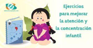 ejercicios de atencion para niños