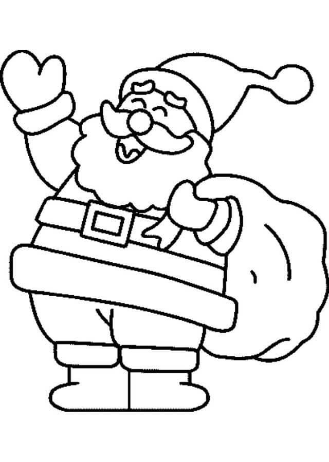 Colorear Papa Noel