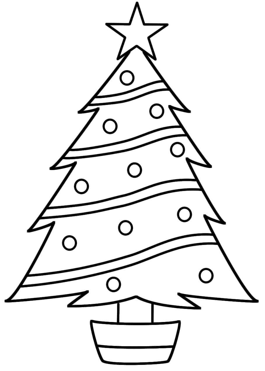 rboles de navidad para colorear dibujo arbol de navidad - Dibujo Arbol De Navidad