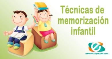 La memoria en los niños. Técnicas de memorización infantil