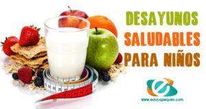 desayunos saludables para niños