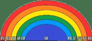 el juego del arco iris