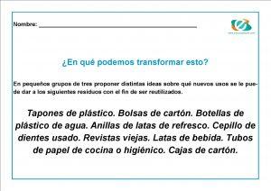reciclaje para niños primaria
