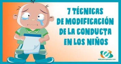 7 Técnicas de modificación de la conducta en los niños
