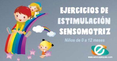 Ejercicios de estimulación sensomotriz en niños de 0 a 12 meses