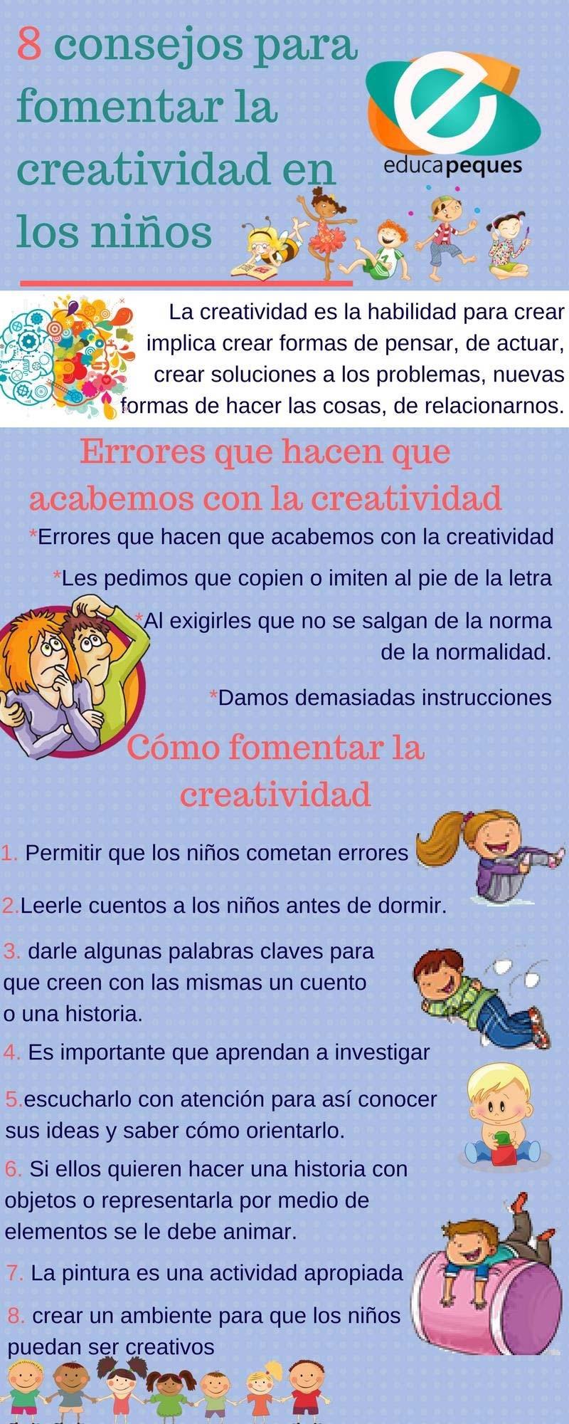 8 Consejos eficaces para fomentar la Creatividad en los niños