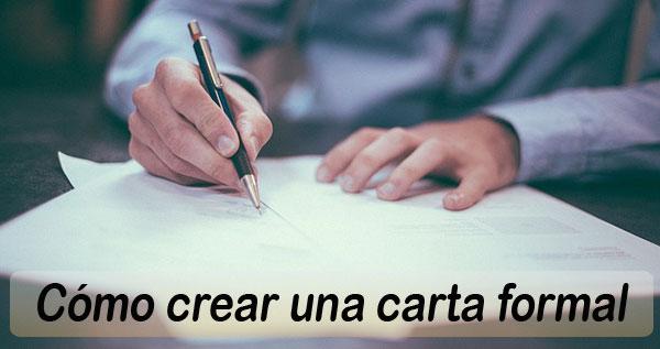 carta formal, ejemplo de carta formal