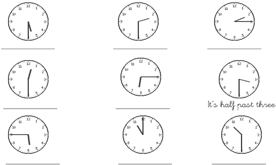 las horas en ingles ejercicios