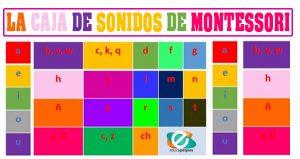 caja de sonidos Montessori