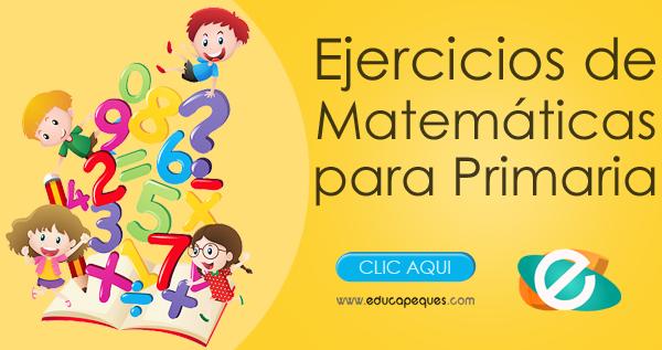 ejercicios matemáticas primaria