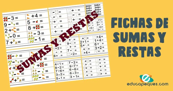 Aprende a sumar y restar: Ejercicios | educapeques