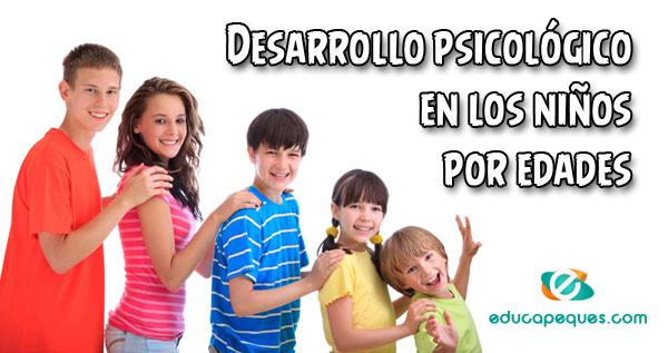 desarrollo psicológico en niños