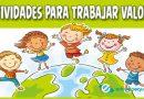 Actividades para trabajar los valores para niños en el patio de clase