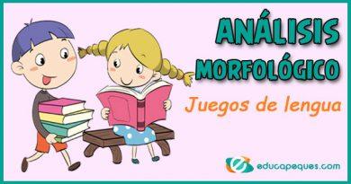 4 Recursos (juegos) para el análisis morfológico en lengua
