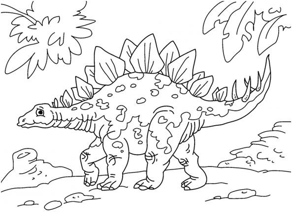 Estegosaurio para colorear