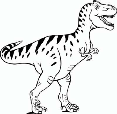 Tiranosaurio Rex dibujo para colorear