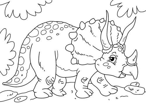 Triceratops para colorear