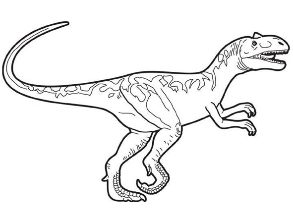 alosaurio para colorear