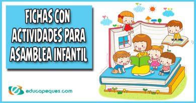 Actividades para la asamblea en educación infantil
