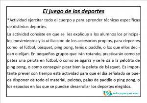 educación física para primaria