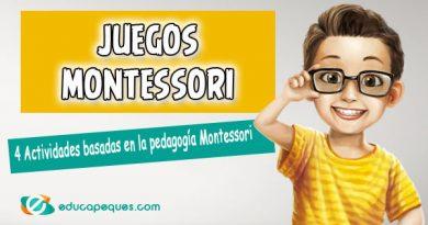 Juegos basados en la pedagogía de Montessori