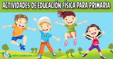 Fichas de educación física para primaria