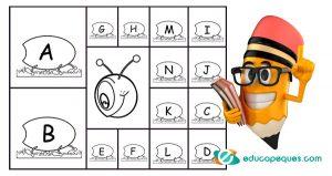 El gusano loco del abecedario