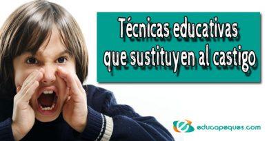 Técnicas educativas que sustituyen al castigo