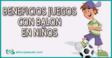 Beneficios los juegos con balón para niños