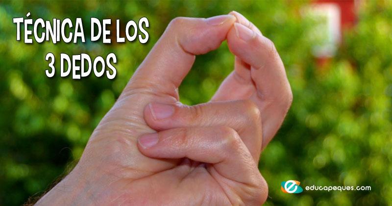 técnica de los 3 dedos