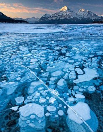 Burbujas de hielo inflamables