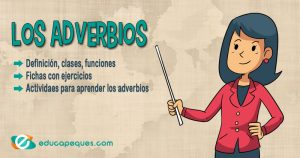 adverbios, clases de adverbios, ejercicios de adverbios